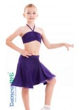 Dance Me Юбка для латины ЮЛ185 детская, масло, фиолетовый