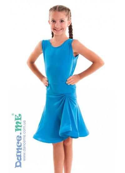 Dance Me Юбка для латины ЮЛ185 детская, масло, голубой