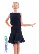 Dance Me Юбка для латины ЮЛ185 детская, масло, темно синий