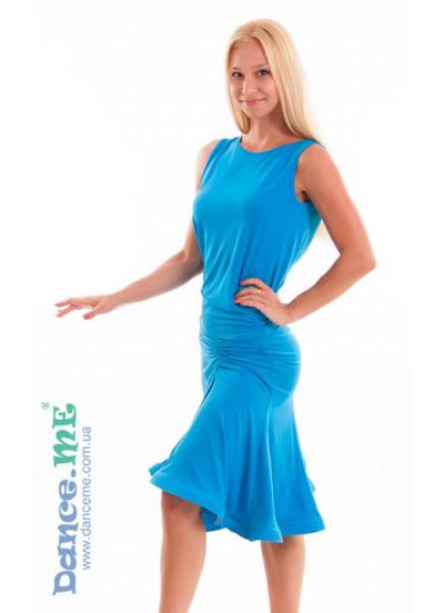 Dance Me Юбка для латины ЮЛ185 женская, масло, голубой