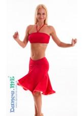 Dance Me Юбка для латины ЮЛ185 женская, масло, красный