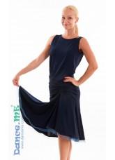 Dance Me Юбка для латины ЮЛ185 женская, масло, темно синий