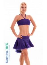 Dance Me Юбка для латины ЮЛ207-Кр женская, масло, фиолетовый