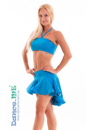 Dance Me Юбка для латины ЮЛ207-Кр женская, масло, голубой