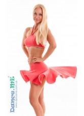 Dance Me Юбка для латины ЮЛ207-Кр женская, масло, коралл