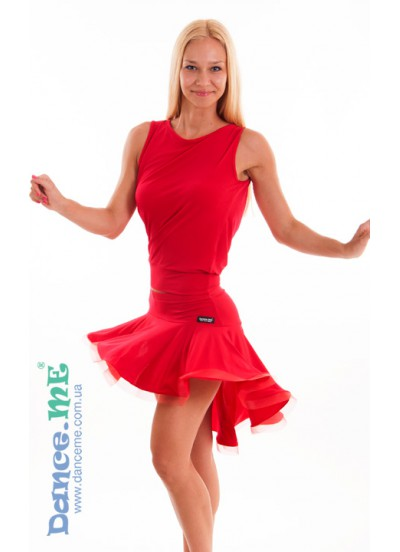 Dance Me Юбка для латины ЮЛ207-Кр женская, масло, красный