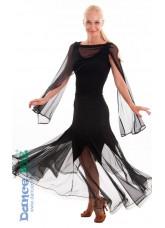 Dance Me Юбка для стандарта ЮС264-Кри, масло / сетка, черный