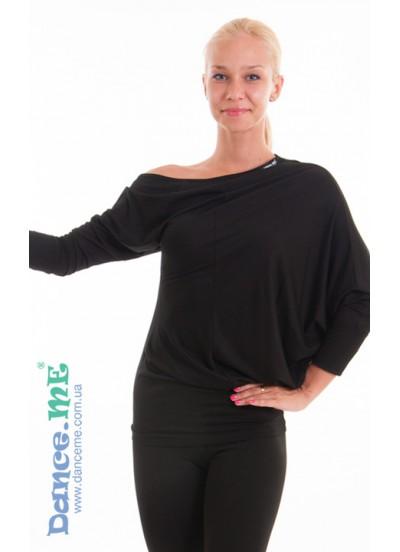 Dance Me Блуза женская БЛ252, вискоза / черный