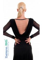 Dance Me Блуза женская БЛ265, масло / сетка телесная