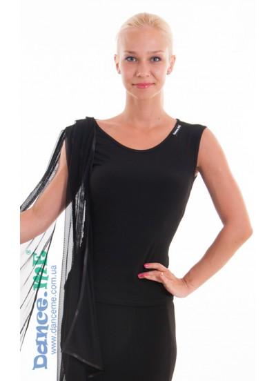 Dance Me Блуза женская БЛ299, масло / сетка черный