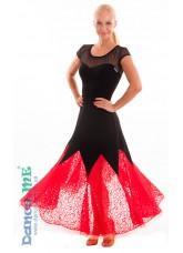 Платье женское ПС262-11 Dance Me, масло / гипюр, черный / красный