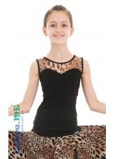 Dance Me Блуза детская БЛ335-2, масло / сетка, лео