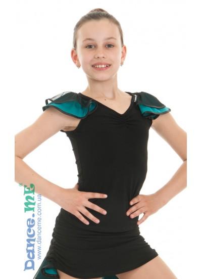 Детская блуза для бально-спортивного танца Dance Me БЛ337-5