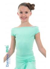 Dance Me Блуза детская БЛ353-КР, масло, мята
