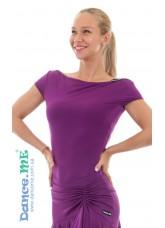 Dance Me Блуза женская БЛ353-КР, масло, темно фиолетовый