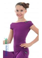 Dance Me Блуза детская БЛ353-КР, масло, темно фиолетовый