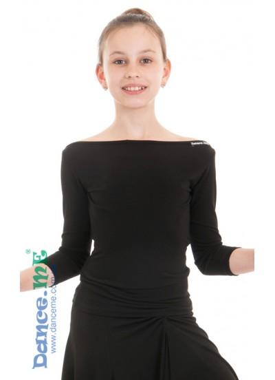Детская блуза БЛ353 для бально-спортивных танцев производства Dance Me
