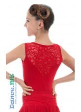 Dance Me Блуза детская БЛ398-8-11, масло / гипюр, красный