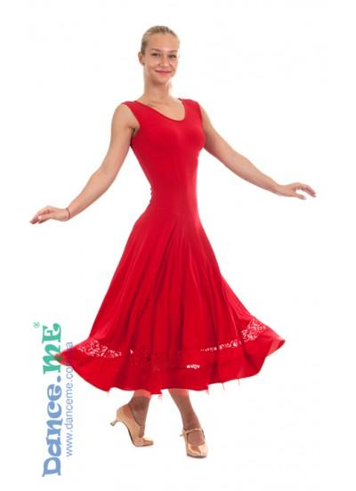 Dance Me Платье женское ПС170-Кри-11, масло / гипюр, красный