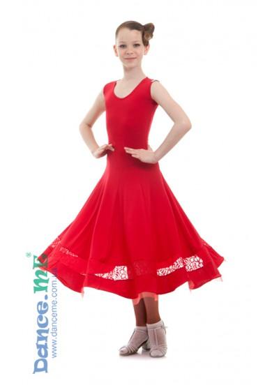 Dance Me Платье детское ПС170-Кри-11, масло / гипюр, красный