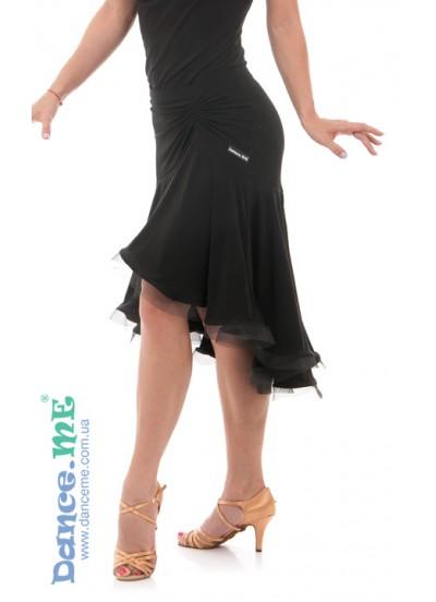 Dance Me Юбка для латины ЮЛ213-8 женская, масло, черный
