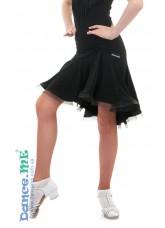 Dance Me Юбка для латины ЮЛ213-8 детская, масло, черный