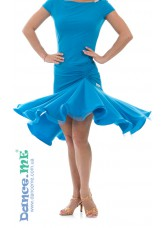 Dance Me Юбка для латины ЮЛ213-8 женская, масло, голубой