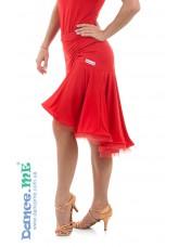 Dance Me Юбка для латины ЮЛ213-8 женская, масло, красный