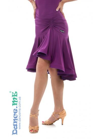 Dance Me Юбка для латины ЮЛ213-8 женская, масло, темно фиолетовый