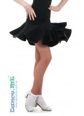 Dance Me Юбка для латины ЮЛ359 детская, масло, черный
