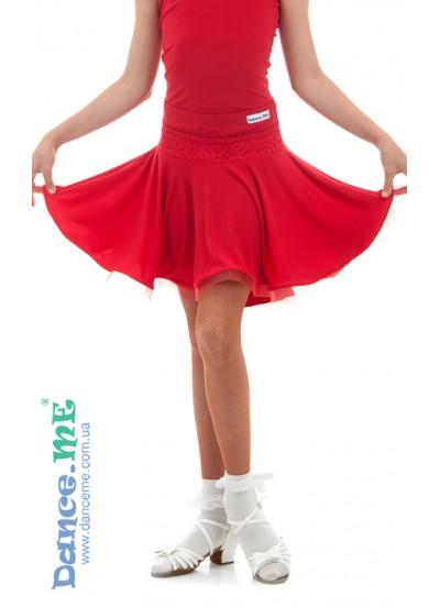 Детская юбка для латины Dance Me ЮЛ394-11