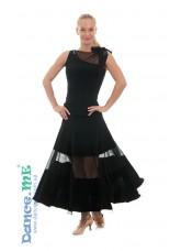Dance Me Юбка для стандарта ЮС358-6-Кри женская, масло / сетка, черный