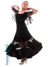 Dance Me Юбка для стандарта ЮС358-Кри женская, масло / сетка, черный