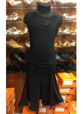 Детское платье для латины PL422-6# Dance.me, Масло+сетка, Черный