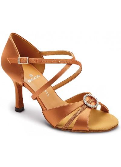 Женские туфли для латины Eckse Александра, кедр атлас