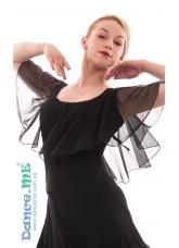 Dance Me Блуза женская БЛ263, масло / сетка, черный