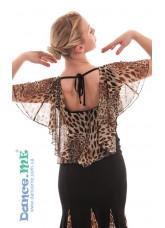 Dance Me Блуза женская БЛ263-2, масло / сетка, лео