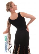 Dance Me Блуза женская БЛ293-2, масло, черный / лео