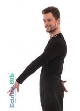 Dance Me Футболка мужская с длинным рукавом ФДРМ66-Хл, Хлопок, Черный