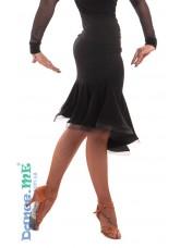 Dance Me Юбка женская для латины ЮЛ342, масло, черный