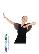 Dance Me Блуза детская БЛ263, масло / сетка, черный