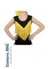 Dance Me Блуза детская БЛ221-Цв, масло / желтая бахрома, черный