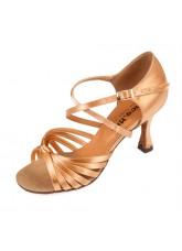 Dance Me Обувь женская для латины 0709, 2-кедр сатин