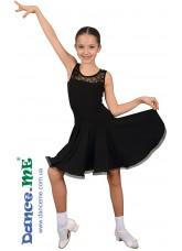 Dance Me Платье детское ПЛ138-11, масло / гипюр, черный