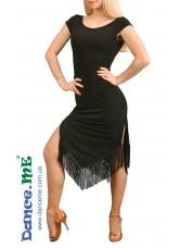 Dance ME Платье женское ПЛ260, масло / бахрома, черный