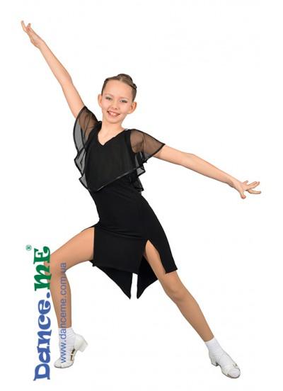 Dance Me Платье детское ПЛ233, масло / сетка, черный