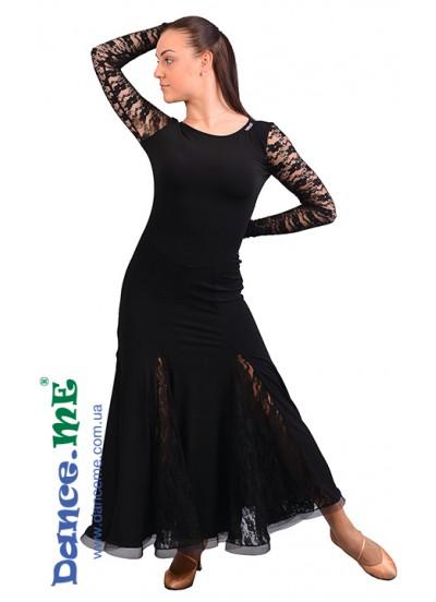 Dance Me Платье женское ПС178-1, масло / гипюр, черный