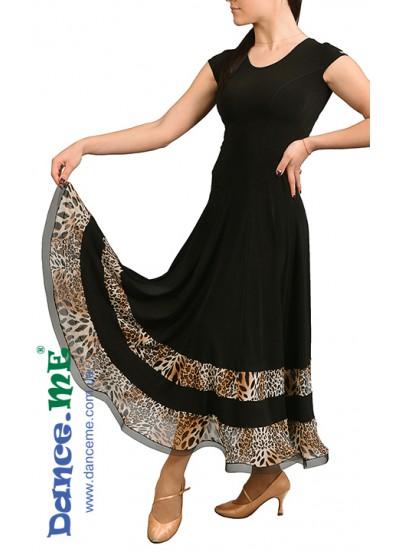 Dance Me Платье женское ПС90-2, масло / сетка, черный, лео