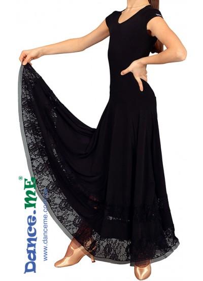Dance Me Платье детское ПС90-Кри-11, масло / гипюр, черный