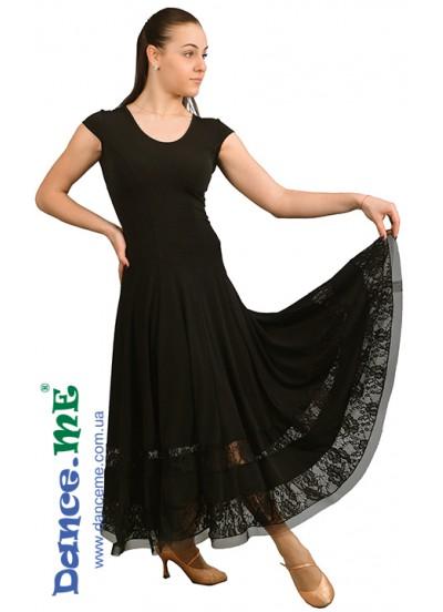Dance Me Платье женское ПС90-Кри-11, масло / гипюр, черный